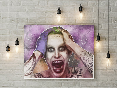 The Joker Suicide Squad Jared Leto inspired Abstract Framed Wall Art - Royal Crown Pro