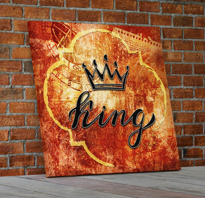 King And Queen Crown Wall Decor Canvas Wall Art - Royal Crown Pro