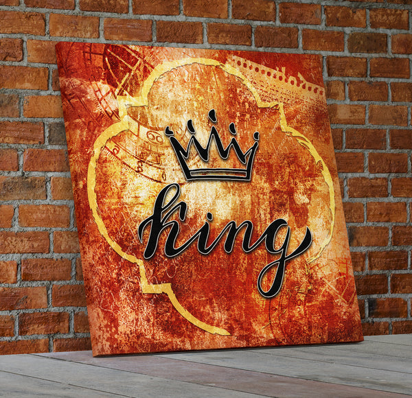 King And Queen Crown Wall Decor Canvas Wall Art