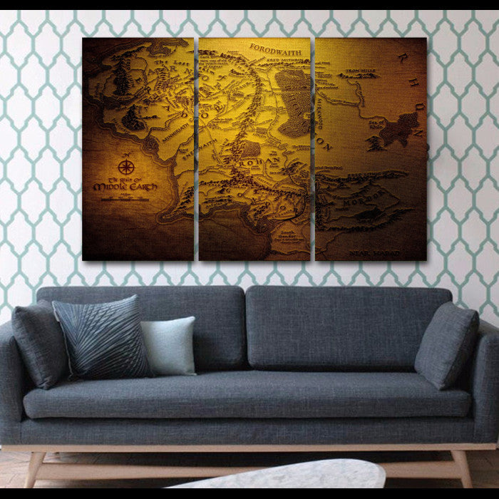 Lord Of The Rings 3 Piece Wall Art Canvas