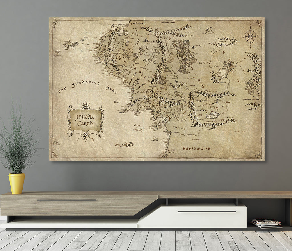 Middle Earth Canvas Wall Art - Royal Crown Pro