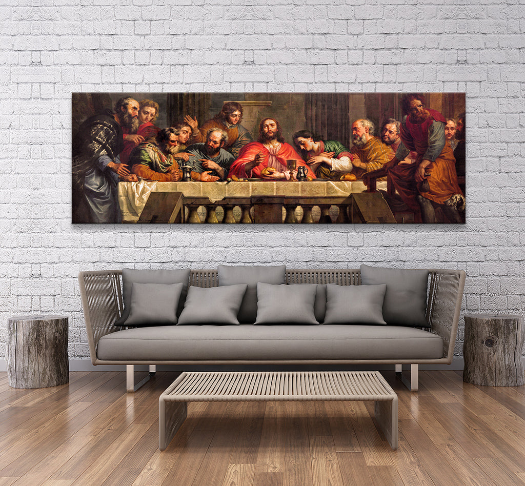 The Last Supper Framed Canvas Wall Art - Royal Crown Pro