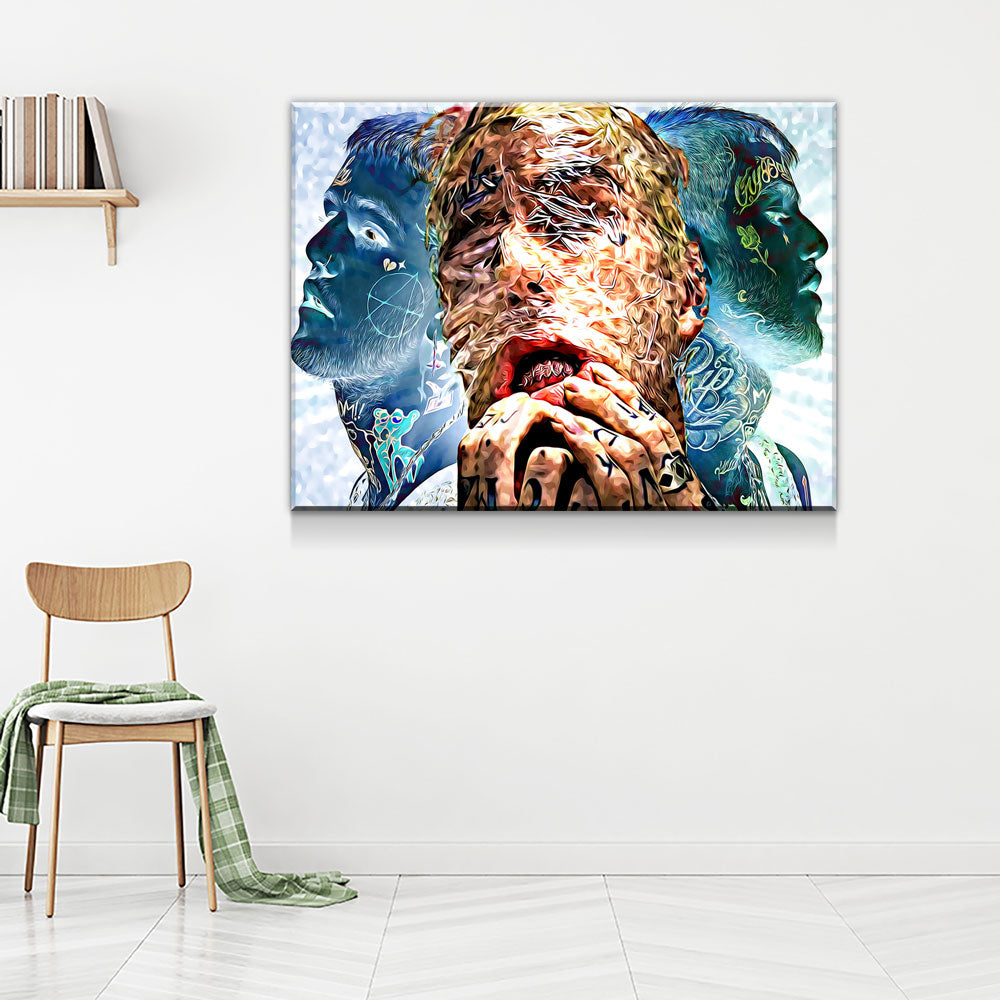Lil Peep Sides Canvas Wall Art - Royal Crown Pro