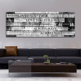 Loved You Then Love You Still Framed Romantic Canvas Wall Art For Couples - Royal Crown Pro