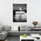 Mindset Is Everything Canvas Wall Art, Motivational Decor, Husky, Wolf - Royal Crown Pro