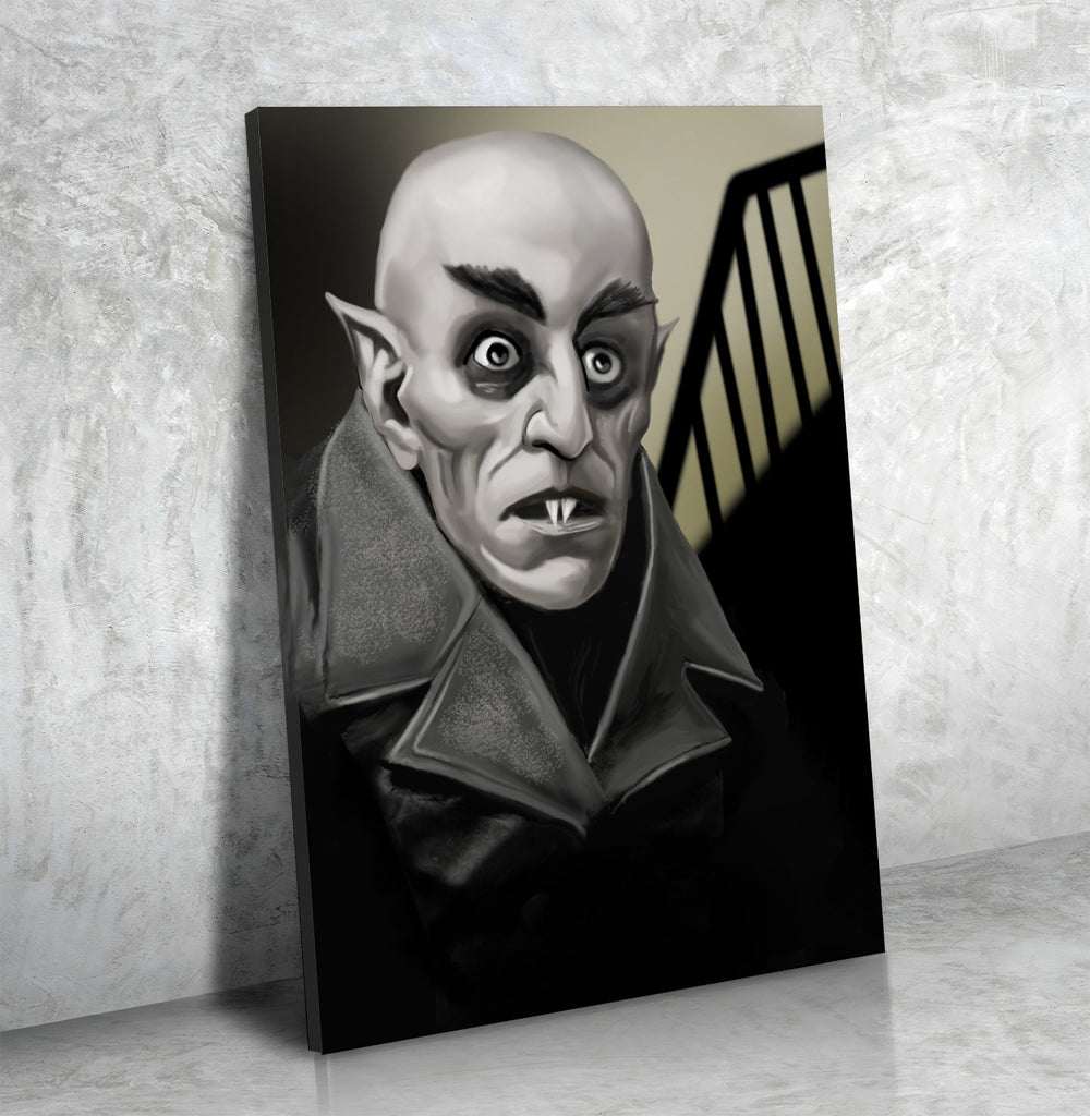 Nosferatu Count Orlok Classic Vampire Framed Canvas Wall Art - Royal Crown Pro