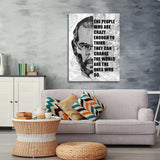 The People Who Are Crazy Enough Canvas Wall Art - Steve Jobs Quote - Royal Crown Pro