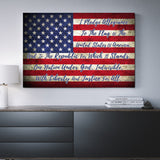Pledge Of Allegiance Wall Art, USA Flag Canvas - Royal Crown Pro