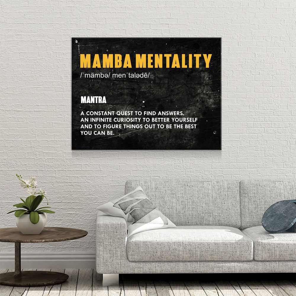 Mamba Mentality Canvas Wall Art - Royal Crown Pro