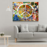 Imagine Wall, Graffiti on The Lennon Wall Canvas Wall Art - Royal Crown Pro