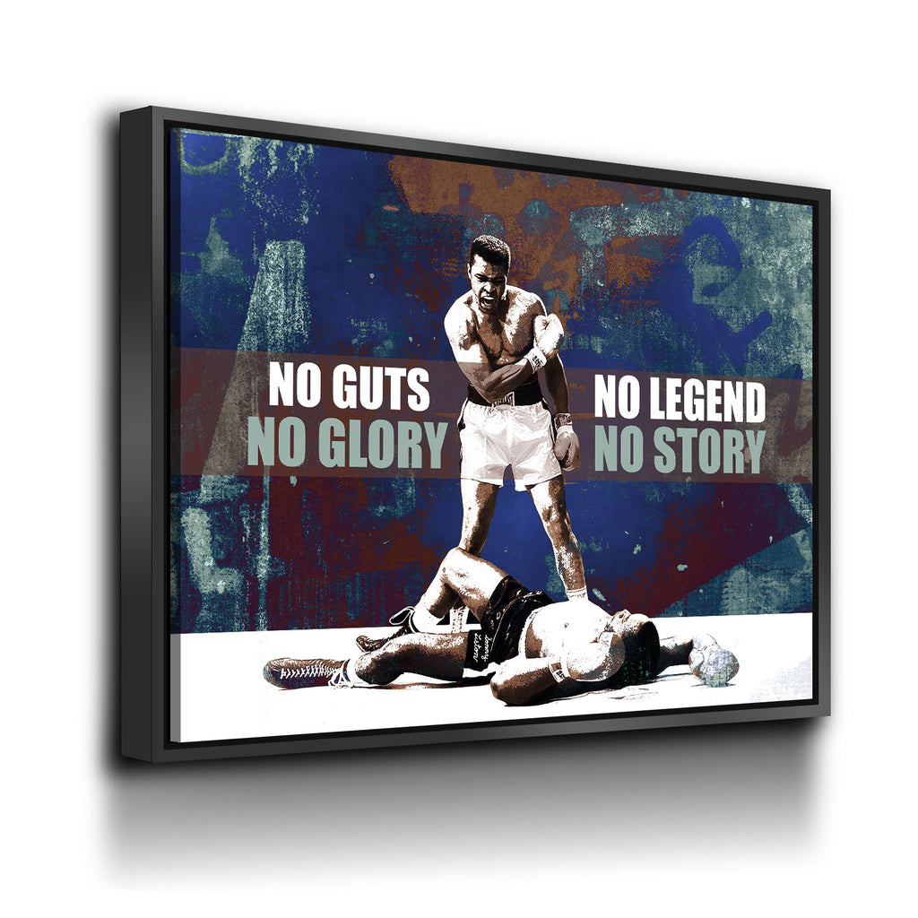 No Guts No Glory, No Legend No Story Canvas Wall Art Boxing Art - Royal Crown Pro