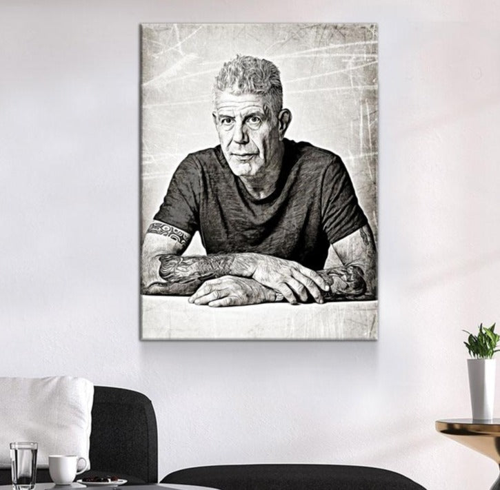 Anthony Bourdain Canvas Wall Art - Royal Crown Pro