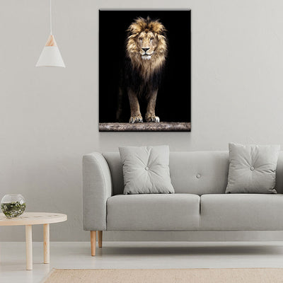Mighty Lion Canvas Wall Art - African Lion