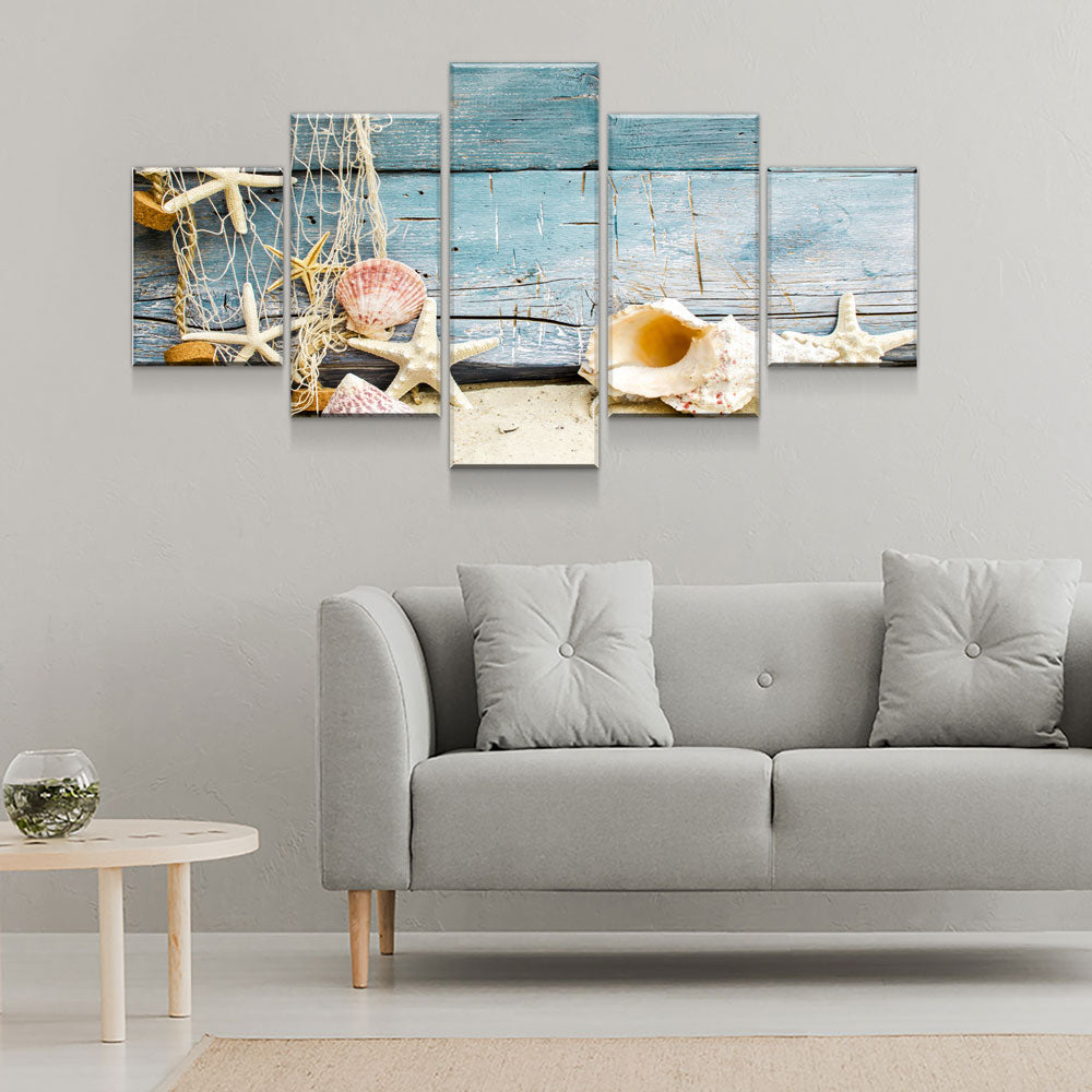 Nautical Collection 5-Piece Wall Art Canvas - Royal Crown Pro