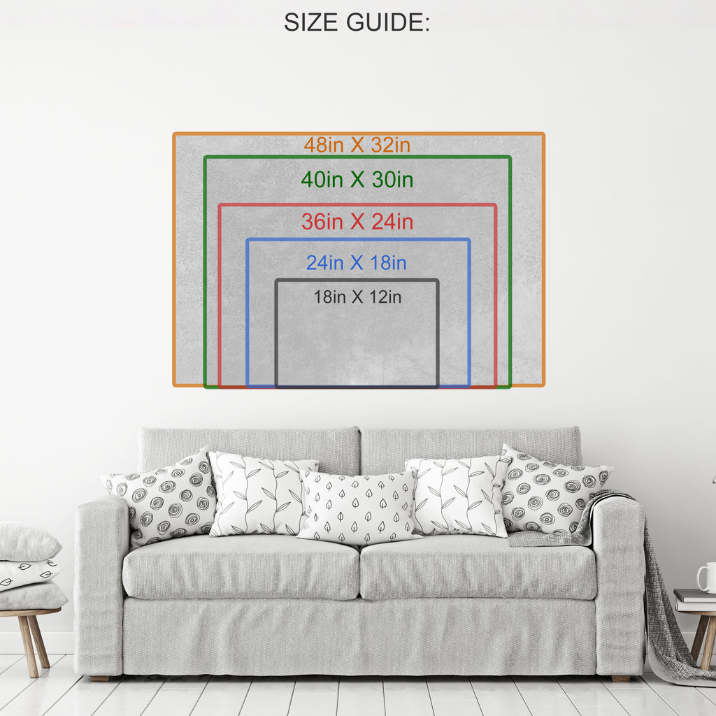 Money To Burn Canvas Wall Art - Royal Crown Pro