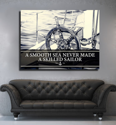 Smooth Sea Never Made A Skilled Sailor Framed Wall Art - Royal Crown Pro