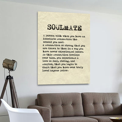 Soulmate Canvas Wall Art Home Decor Soulmate Sign, Romantic Decor - Royal Crown Pro