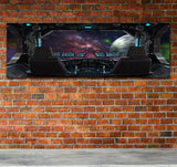 Space Travel Space Ship Window Canvas Wall Art - Royal Crown Pro