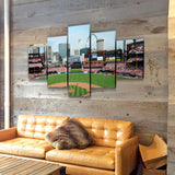St. Louis Cardinals Stadium 5-Piece Wall Art Canvas USA Made! - Royal Crown Pro