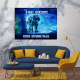 Start Unknown Finish Unforgettable Abstract Canvas Wall Art - Royal Crown Pro