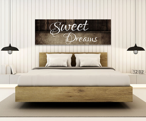 Sweet dreams wall art canvas sweet dreams above the bed - Wall art above bed ...