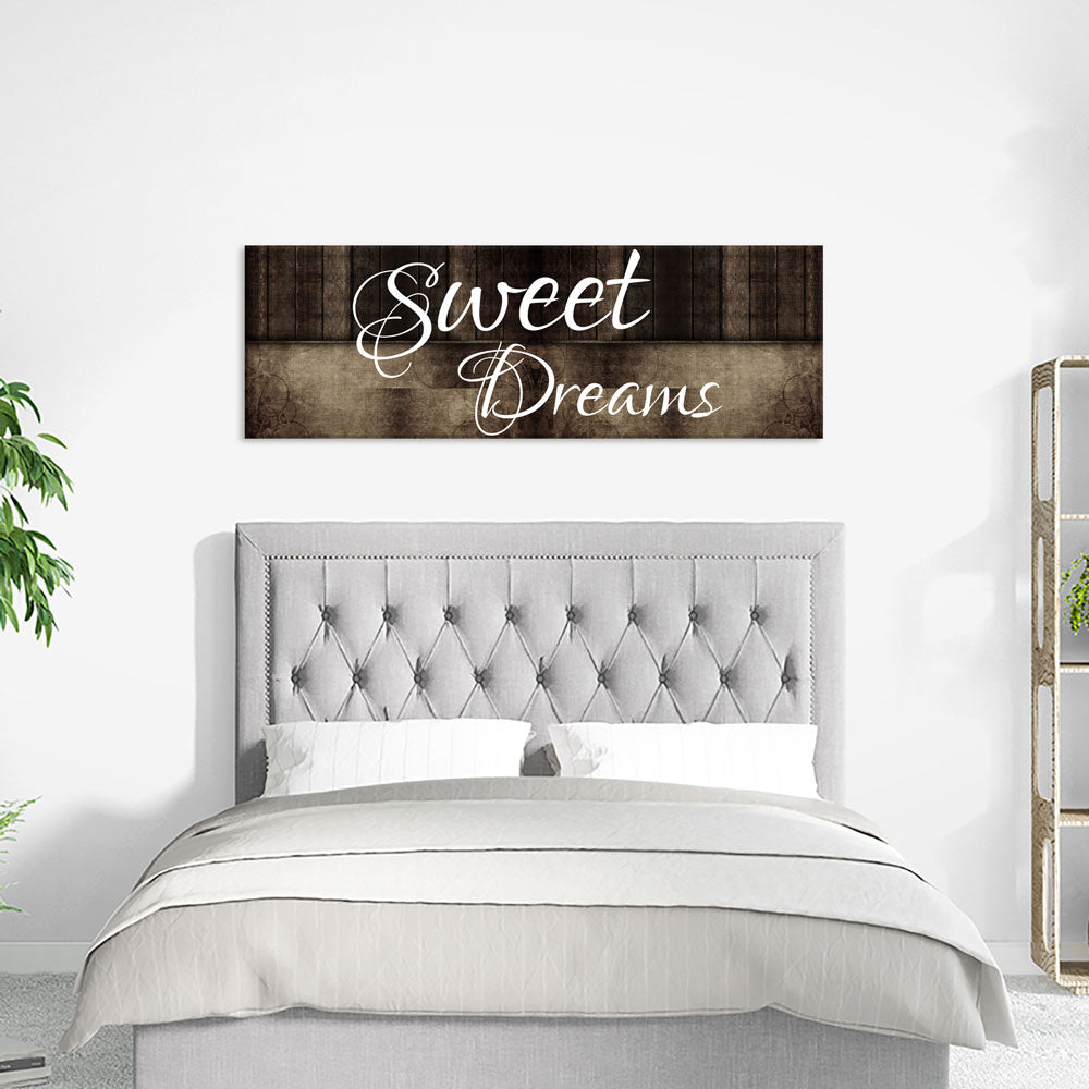 Sweet Dreams Wall Art Canvas, Sweet Dreams Above The Bed - Royal Crown Pro