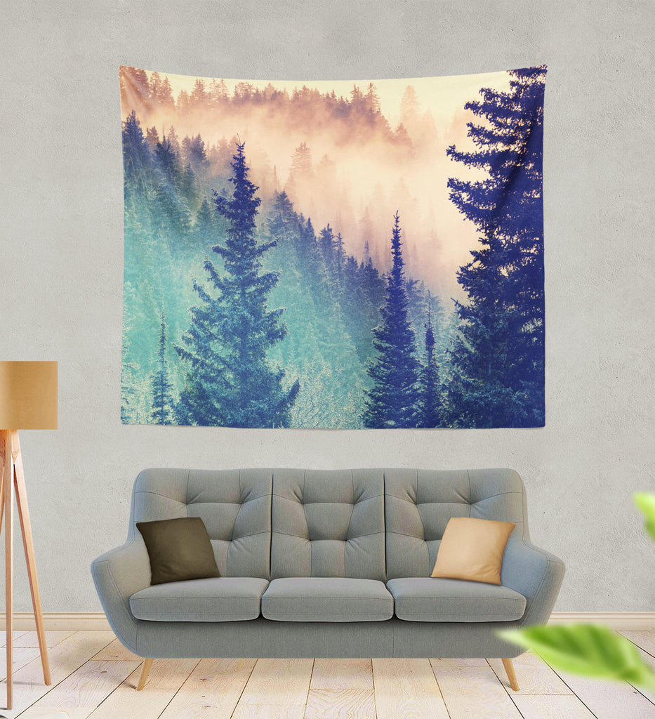Wilderness Mountains Tapestry - Royal Crown Pro