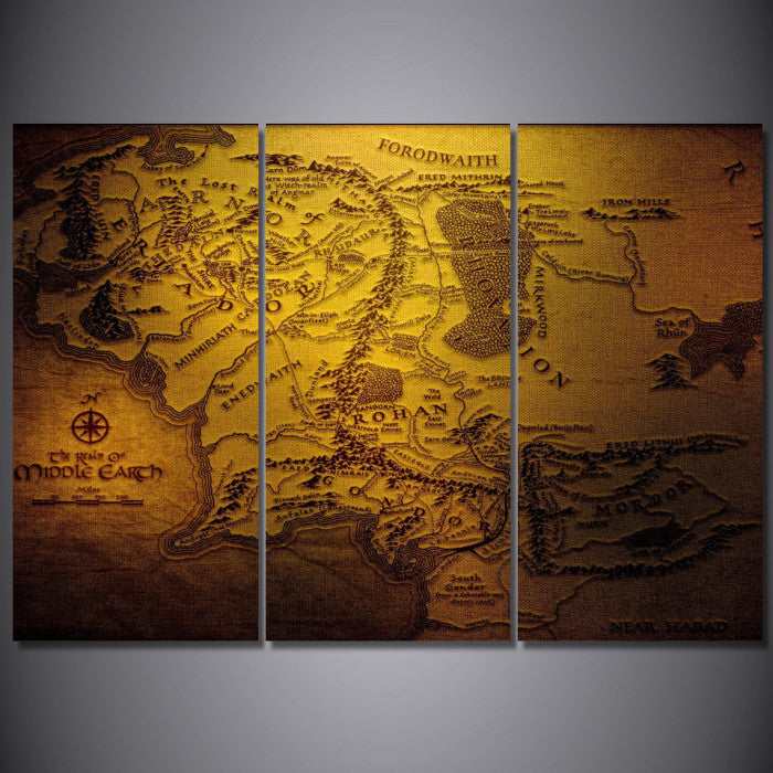 ... Lord Of The Rings 3 Piece Wall Art Canvas   Royal Crown Pro
