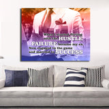 Failure Became My Ex Wall Art Canvas - Royal Crown Pro