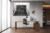 Set Goals So High They Laugh Crush Them While They Watch Canvas Wall Art - Royal Crown Pro