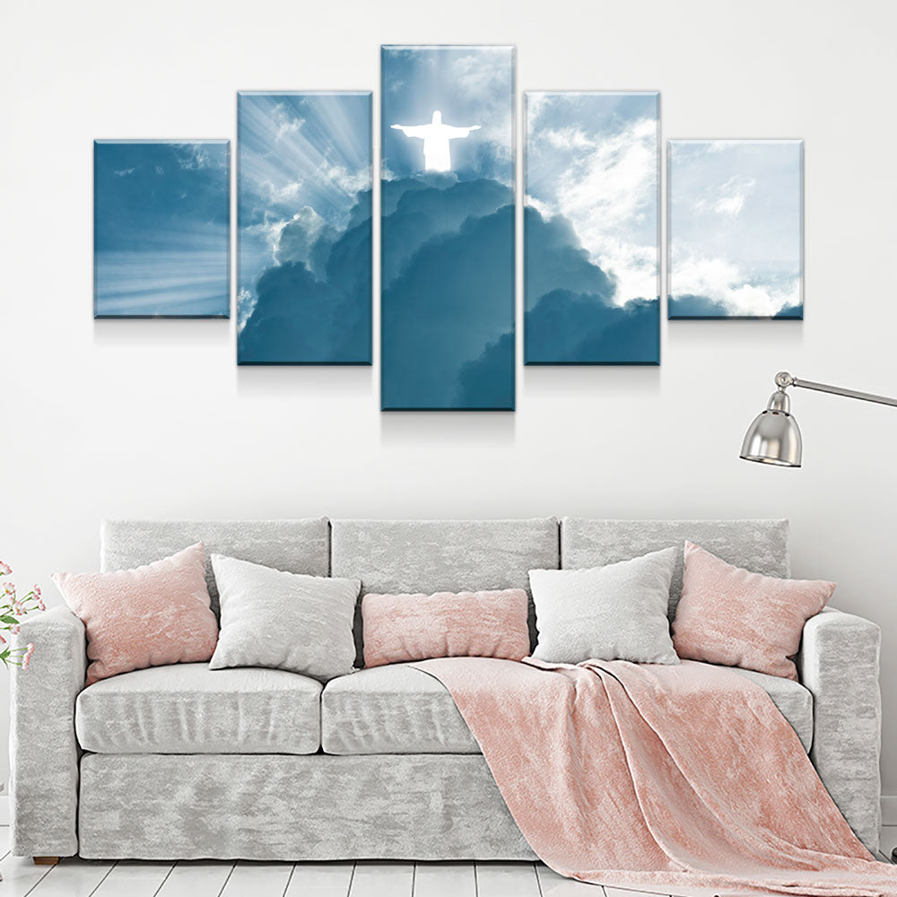 Jesus Is Coming 5-Piece Wall Art Canvas - Royal Crown Pro