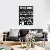 In This Salon Canvas Wall Art, Beauty Salon, Hair Salon, Barber Shop, Salon Decor, Hair Stylist, We Love Hair - Royal Crown Pro