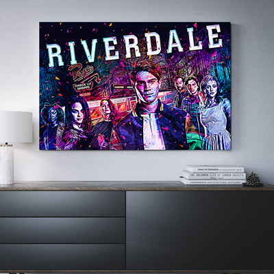 Riverdale Pops Diner Abstract Framed Canvas Wall Art - Royal Crown Pro