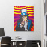 Uncle Same Wants You Abstract Wall Art Canvas - Royal Crown Pro