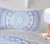 BLUE OMBRE MANDALA 3 PIECE DUVET SET