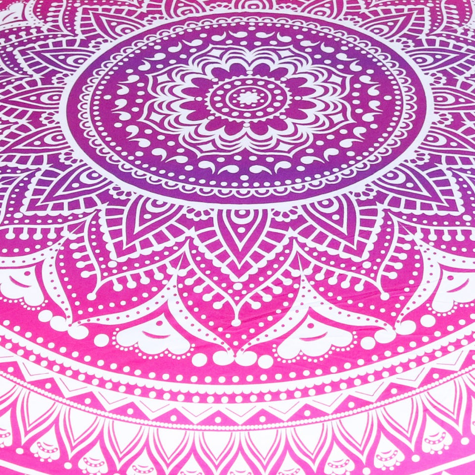 PINK OMBRE MANDALA TAPESTRY