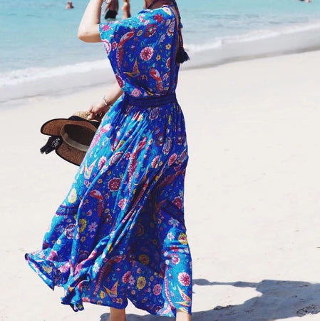 BLUE BELLE BOHO DRESS