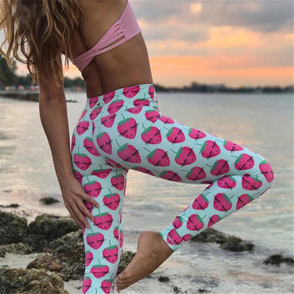 STRAWBERRY SUNSHINE YOGA PANTS