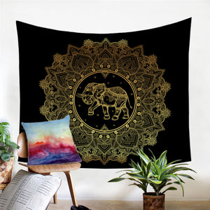 MYSTICAL ELEPHANT TAPESTRY