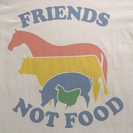 FRIENDS NOT FOOD RETRO TEE