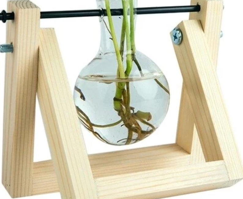 SINGLE DESKTOP GLASS BULB VASE