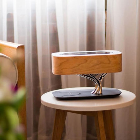 Boho Lamp with Bluetooth Speaker & Wireless Charger