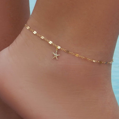 DAINTY LITTLE STARFISH ANKLET