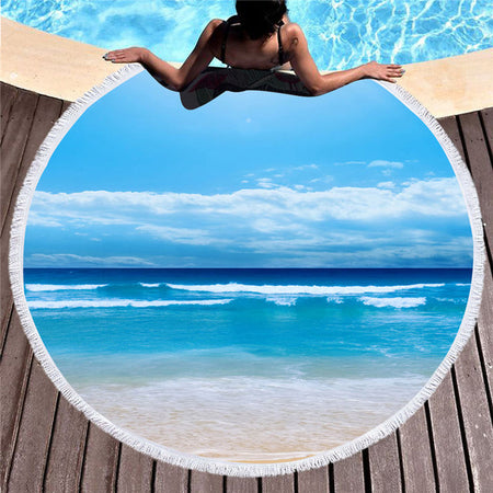 OCEAN ROUND BEACH TOWEL