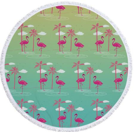 FLAMINGO ROUND BEACH TOWELS