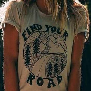 FIND YOUR ROAD RETRO TEE