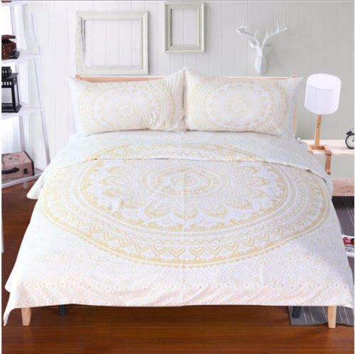 GOLD DUST MANDALA DUVET SET