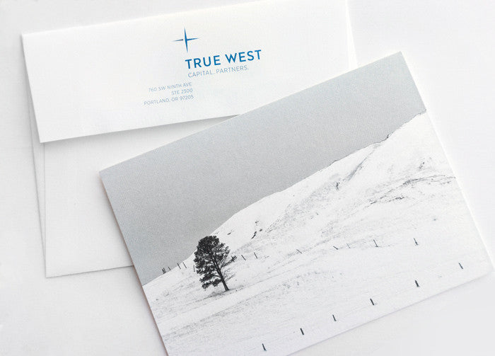 True West Capital Partners holiday card features winter landscape photo by Keith Dotson