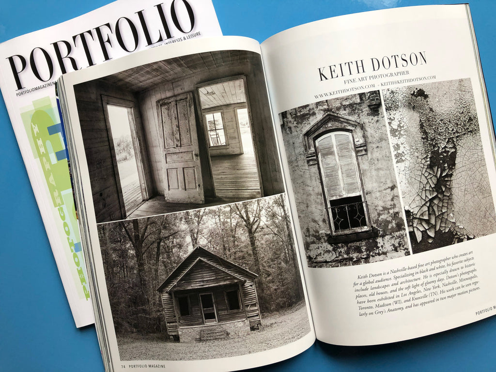 Keith Dotson photographs featured in Portfolio Magazine's 2020 collector's issue