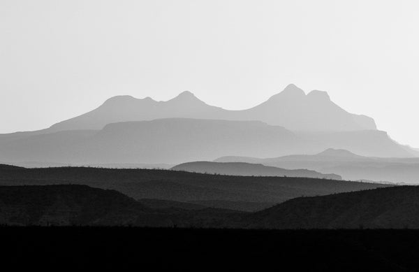 New panoramic landscape photographs of West Texas mountain ranges